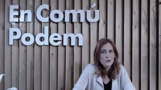 La candidata a la presidència de la Generalitat dels comuns, Jéssica Albiach.