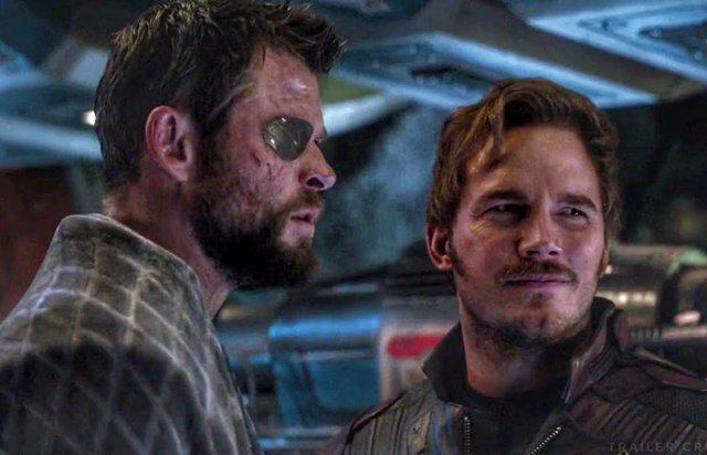 Chris Hemsworth y Chris Pratt en Vengadores: Endgame