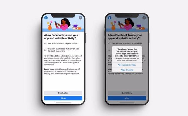 Ventana información para usuarios de iPhone