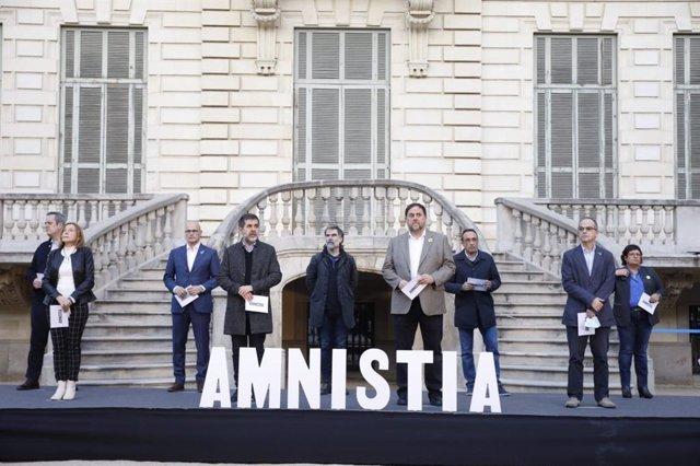 """Actes dels presos de l'1-O """"per l'amnistia i la república"""""""