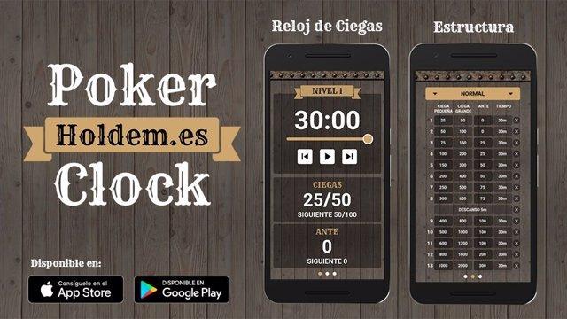 Aplicación Poker Clock de Holdem.Es
