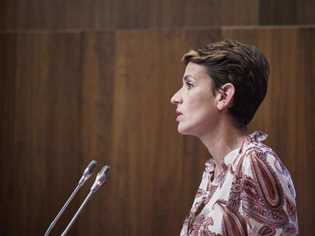 La presidenta del Gobierno de Navarra, María Chivite, en una imagen de archivo.