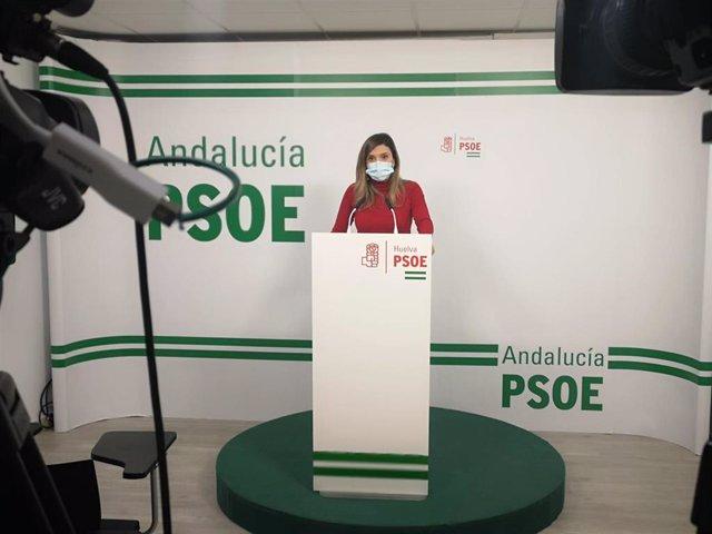 María Márquez, en rueda de prensa.