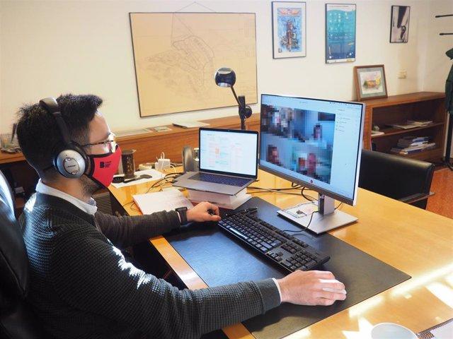 El gerente de la Fundación Bit, Álvaro Medina, se reúne por videoconferencia con las empresas ubicadas en el Parc Bit de Mallorca y el Centre Bit de Menorca.