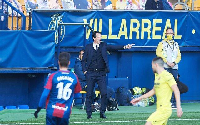 Emery durante el Villarreal-Levante de LIga
