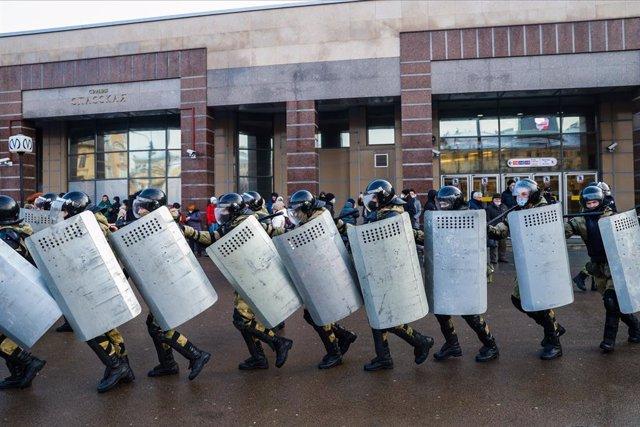 Protestas opositoras para pedir la liberación de Navalni el 31 de enero
