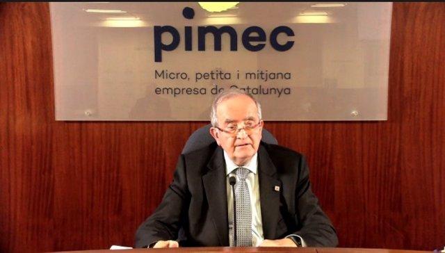 """AV.- Josep González renuncia a la presidencia de Pimec """"sin ninguna presión ni problema"""""""