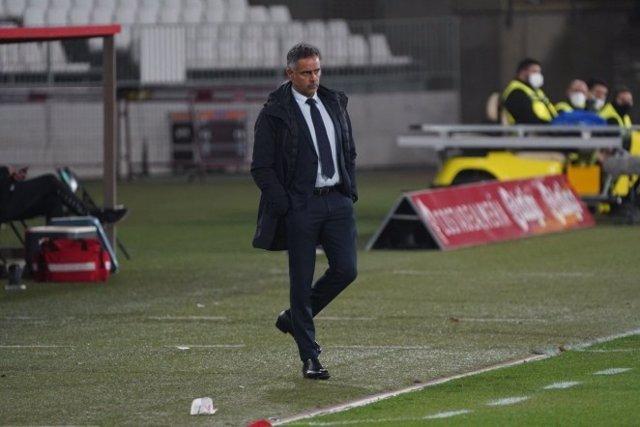 El entrenador de la UD Almería, José Gomes