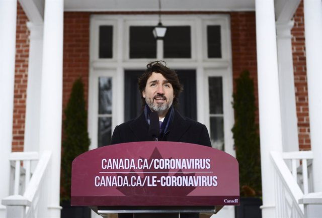 02 February 2021, Canada, Ottawa: Canadian Prime Minister Justin Trudeau holds a press conference at Rideau Cottage, to provide an update on the COVID-19 pandemic. Photo: Sean Kilpatrick/The Canadian Press via ZUMA/dpa