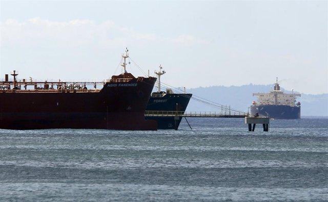 Imagen de archivo de un buque iraní frente a las costas venezolanas.