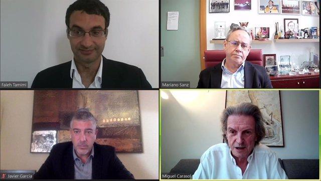 Faleh Tamimi, Mariano Sanz, Javier García y Miguel Carasol.
