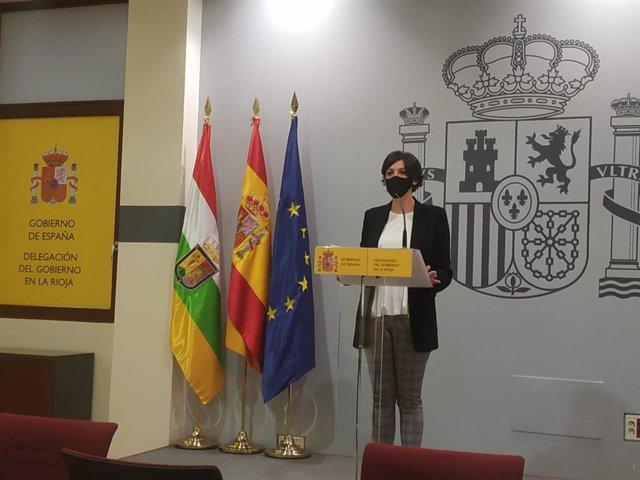 La delegada del Gobierno en La Rioja, María Marrodán