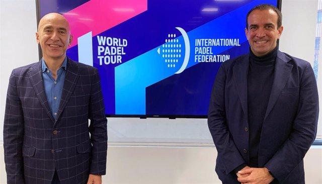 El Director General de WPT, Mario Hernando, y el presidente de la Federación Internacional de Pádel, Luigi Carraro.