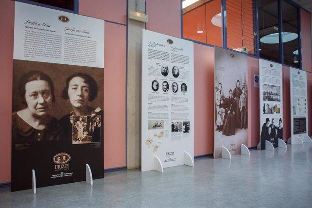 Exposición 'Úriz Pi. Hermanas- Ahizpak. Una vida dedicada a los valores democráticos universales', en la UPNA