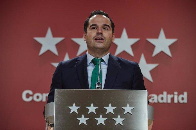 El vicepresidente de la Comunidad de Madrid, Ignacio Aguado