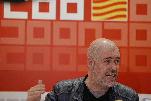 El secretario general de CCOO, Unai Sordo.