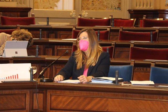 La consellera de Salud y Consumo, Patricia Gómez, en su comparecencia en el Parlament.