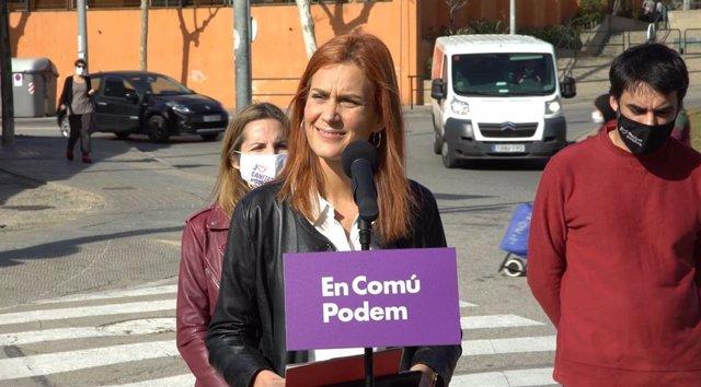 La candidata dels comuns a les eleccions catalanes, Jéssica Albiach