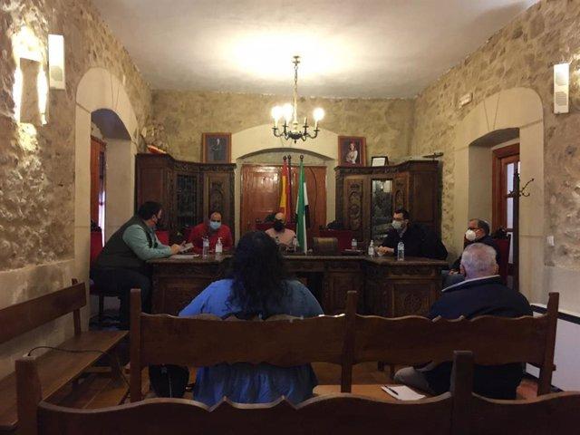 Reunión del diputado de Medio Ambiente con allcades de la Sierra de Gata