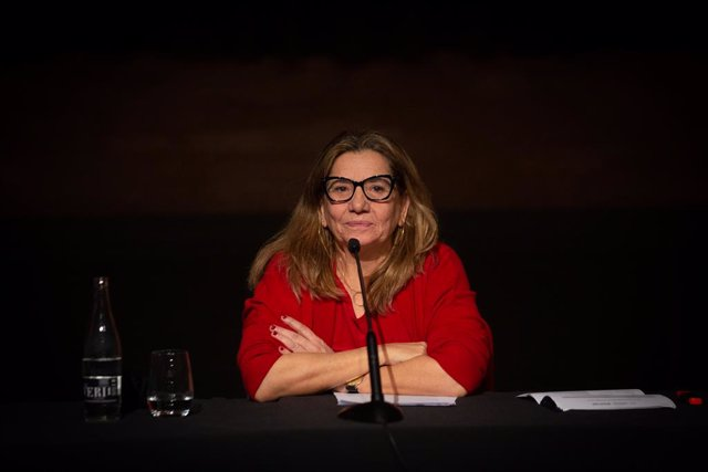 La presidenta de l'Acadèmia del Cinema Català, Isona Passola, durant la presentació dels XIII Premis Gaudí a Barcelona. Catalunya (Espanya), 16 de desembre del 2020.