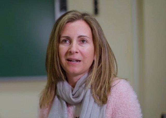 La profesora Eva Romera durante su intervención en 'Universo Sostenible'.