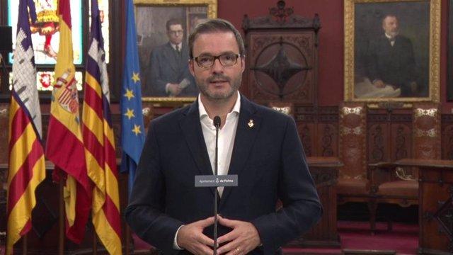 El alcalde de Palma, José Hila, en mensaje a la ciudadanía.