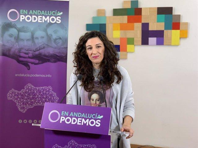La coportavoz de Podemos Andalucía, Libertad Benítez.