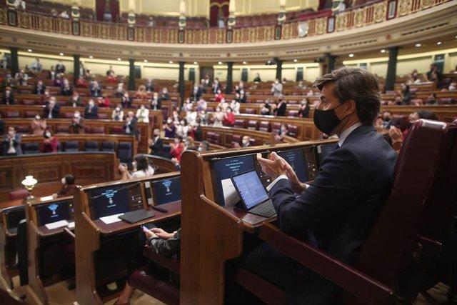 Imagen de archivo del hemiciclo del Congreso desde la bancada del PP