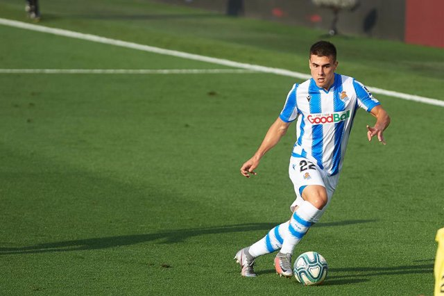 Ander Barrenetxea of Real Sociedad during the la La Liga Santander mach between Villarreal and Real Sociedad at La Ceramica Stadium, on July 13, 2020 in Vila-real, Spain