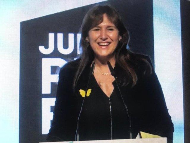 La candidata de Junts a las elecciones catalanas, Laura Borràs
