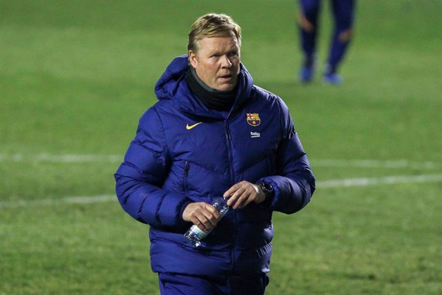 Ronald Koeman, head coach of FC Barcelona during the spanish cup, Copa del Rey football match played between Rayo Vallecano and FC Barcelona at Vallecas stadium on January 28, 2021 in Madrid, Spain.