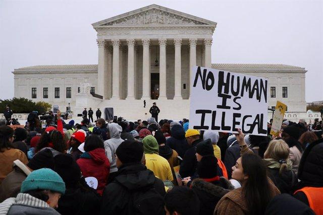 Manifestación contra las políticas migratorias del expresidente de Estados Unidos, Donald Trump.