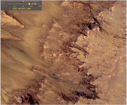 El deshielo es capaz de provocar los surcos estacionales en Marte