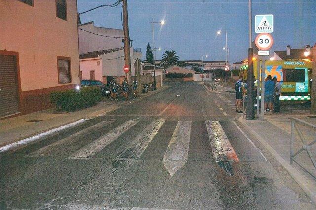 Lugar del accidente de Salteras