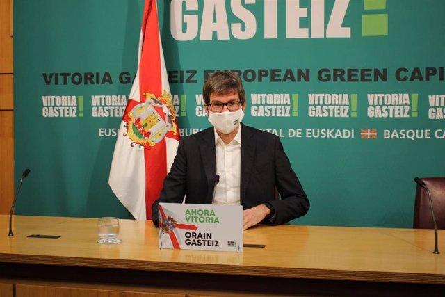 El alcalde de Vitortia, Gorka Urtaran