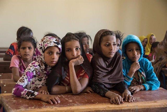 Niños en una escuela en la región de Tombuctú