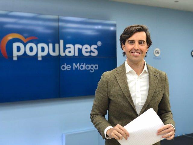 El vicesecretario de Comunicación del Partido Popular y diputado nacional por Málaga, Pablo Montesinos.