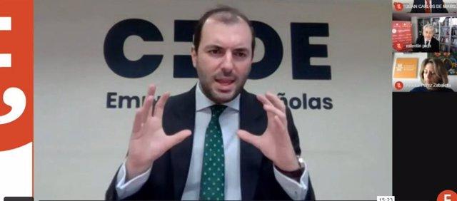 El jefe de la Oficina de Proyectos Europeos en CEOE, Luis Socías,