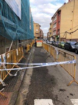 Lugar donde fue encontrado el cuerpo de la mujer.