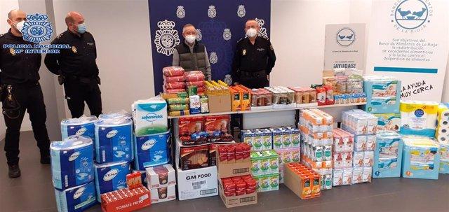 La Jefatura Superior de Policía de la Rioja hace entrega al Banco de Alimentos de más de 400 kilos