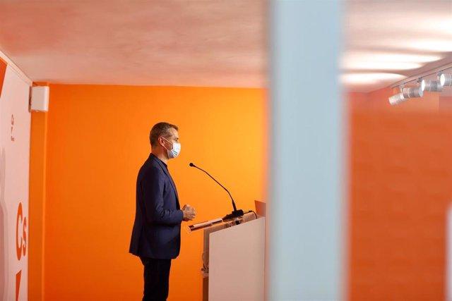 Toni Cantó comparece en la sede de Ciudadanos