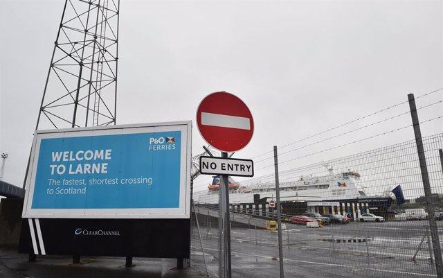 Puerto de Larne, en Irlanda del Norte