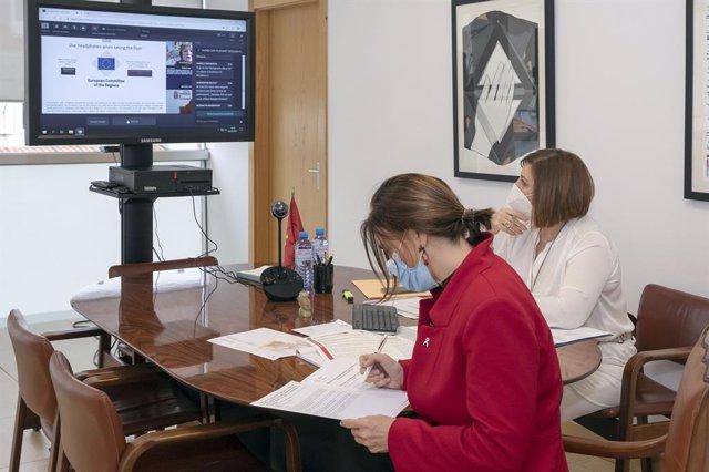 La consejera de Presidencia, Interior, Justicia y Acción Exterior, Paula Fernández, interviene en el Pleno del Comité de las Regiones de Europa (CdR).