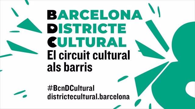 Cartell del Barcelona Districte Cultural