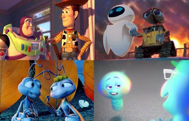 Imágenes de personajes de películas de Pixar