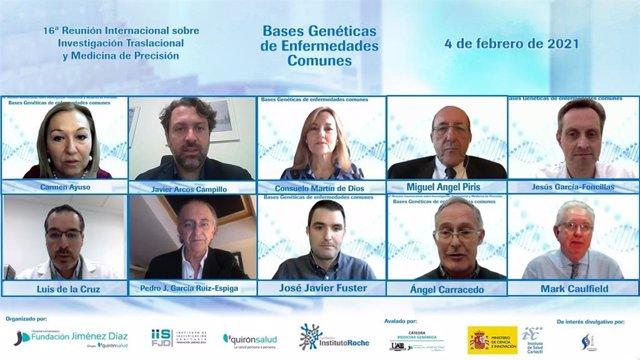 Foto de familia de todos los participantes de la '16ª Reunión Internacional sobre Investigación Traslacional y Medicina de Precisión'.