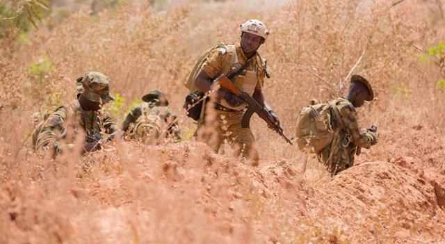 Imagen de archivo de soldados cameruneses.
