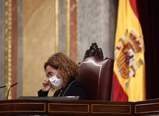 La presidenta del Congreso de los Diputados, Meritxell Batet, durante una sesión plenaria celebrada en el Congreso de los Diputados, en Madrid, (España), a 4 de febrero de 2021.