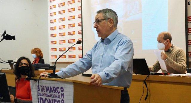 Arturo León en el Consejo Confederal de CCOO PV en imagen de archivo