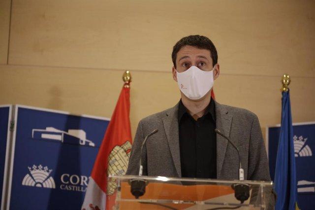 El procurador de Ciudadanos en las Cortes regionales Javier Panizo.